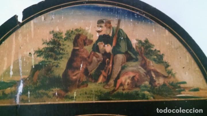 Relojes de pared: Ratera maquinaria completa y funcionando, sonería gong reloj original selva negra antiguo 1850 s XIX - Foto 28 - 137743418