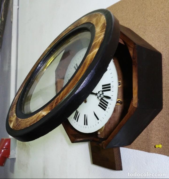 Relojes de pared: Reloj Ojo de Buey Biblioteca - Funciona - Foto 4 - 137998662