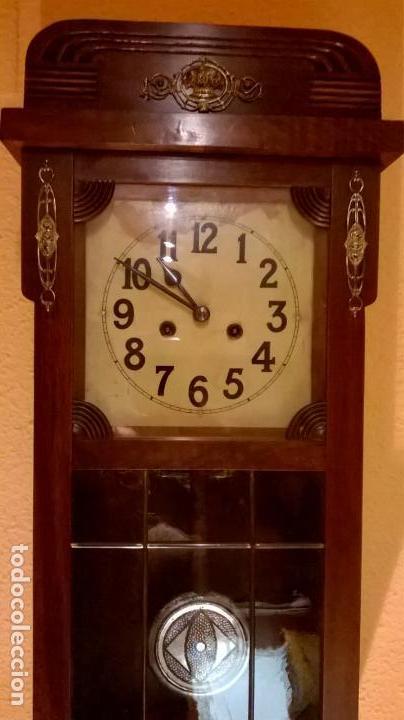 RELOJ DE PARED.ESTILO ART-DECÓ.MEDIDA 78X30. (Relojes - Pared Carga Manual)