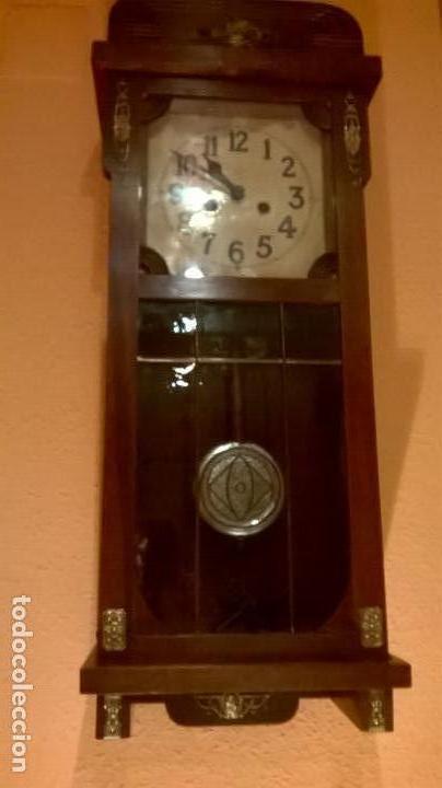 Relojes de pared: Reloj de pared.Estilo art-decó.Medida 78x30. - Foto 2 - 138821994