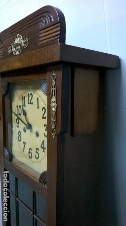 Relojes de pared: Reloj de pared.Estilo art-decó.Medida 78x30. - Foto 4 - 138821994