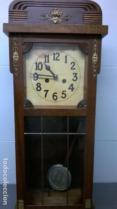 Relojes de pared: Reloj de pared.Estilo art-decó.Medida 78x30. - Foto 6 - 138821994