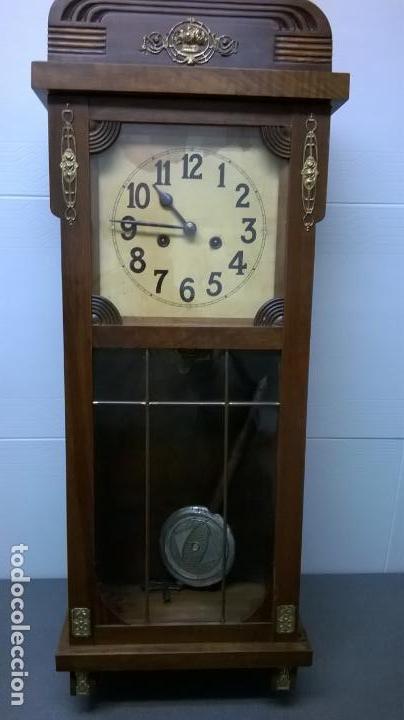 Relojes de pared: Reloj de pared.Estilo art-decó.Medida 78x30. - Foto 8 - 138821994