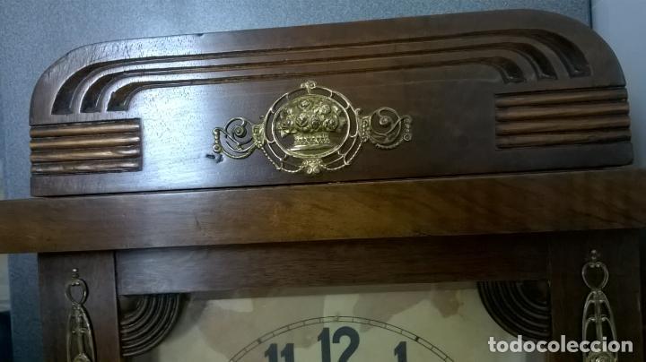 Relojes de pared: Reloj de pared.Estilo art-decó.Medida 78x30. - Foto 12 - 138821994