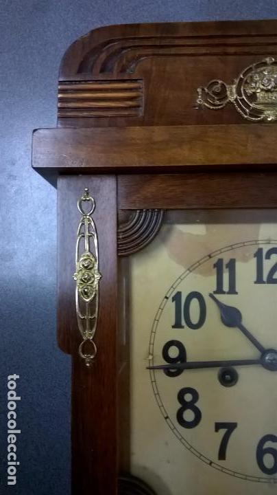 Relojes de pared: Reloj de pared.Estilo art-decó.Medida 78x30. - Foto 13 - 138821994