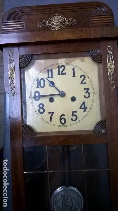 Relojes de pared: Reloj de pared.Estilo art-decó.Medida 78x30. - Foto 14 - 138821994