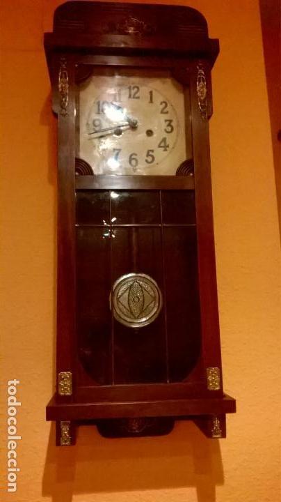 Relojes de pared: Reloj de pared.Estilo art-decó.Medida 78x30. - Foto 18 - 138821994
