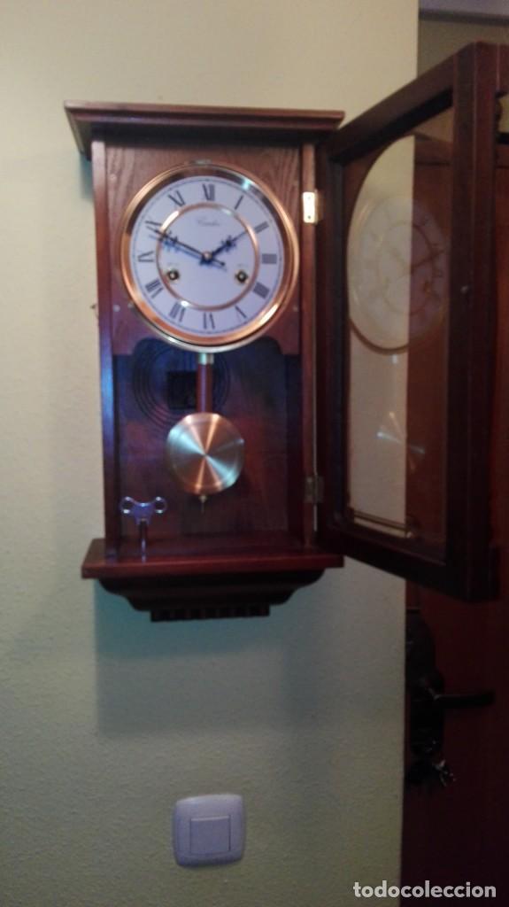 Relojes de pared: RELOJ DE PARED MARCA CONDOR.CUERDA 7-8 DÍAS .FUNCIONANDO BIEN. - Foto 6 - 139461114