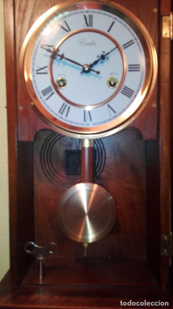 Relojes de pared: RELOJ DE PARED MARCA CONDOR.CUERDA 7-8 DÍAS .FUNCIONANDO BIEN. - Foto 8 - 139461114