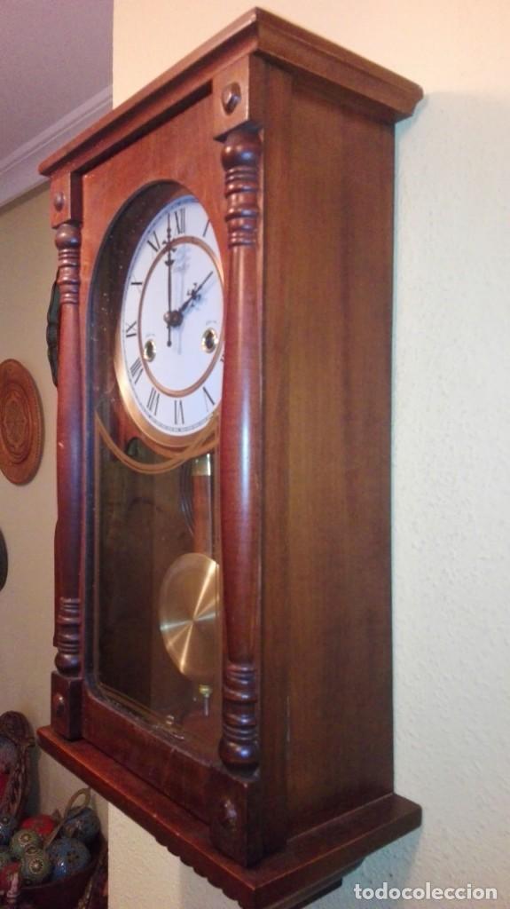 Relojes de pared: RELOJ DE PARED MARCA CONDOR.CUERDA 7-8 DÍAS .FUNCIONANDO BIEN. - Foto 11 - 139461114