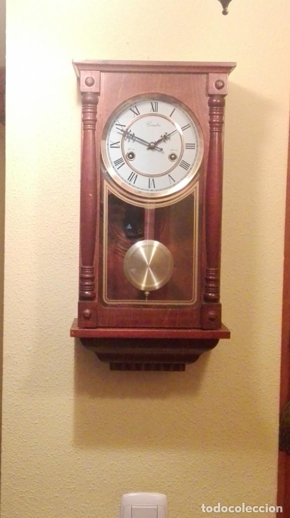 RELOJ DE PARED MARCA CONDOR.CUERDA 7-8 DÍAS .FUNCIONANDO BIEN. (Relojes - Pared Carga Manual)