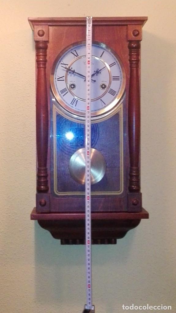 Relojes de pared: RELOJ DE PARED MARCA CONDOR.CUERDA 7-8 DÍAS .FUNCIONANDO BIEN. - Foto 2 - 139461114