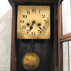 Relojes de pared: RELOJ PARED PFEILKREUZ FLECHAS CRUZADAS 1891-1915 HAMBURGAMERIKANICHEUHRENFABRIK RESTAURAR. Lote 139761218