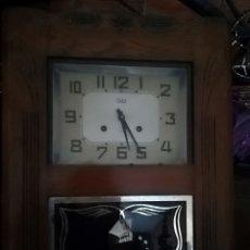 Relojes de pared: ANTIGUO RELOJ ODO FRANCÉS SONERIA A LAS MEDIAS Y HORAS. Lote 139797708