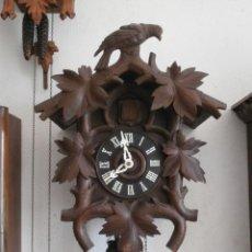 Relojes de pared: RELOJ ANTIGUO DE PARED ALEMÁN CUCU CUCO PÉNDULO FUNCIONA CON PESAS AÑO 1900 1910 SELVA NEGRA ALEMANA. Lote 139834834
