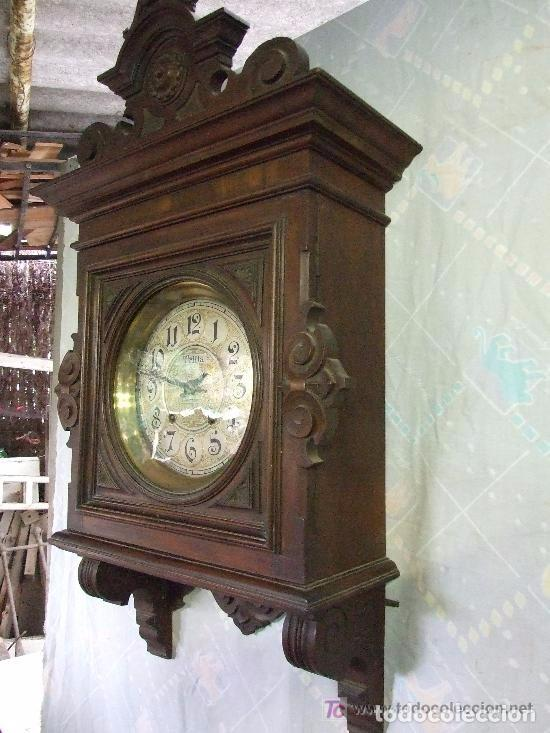 Relojes de pared: RELOJ DE PARED MODERNISTA FUNCIONANDO, IMPRESIONANTE Y RARO ! - Foto 3 - 140021826