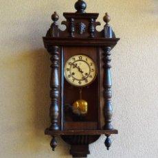 Relojes de pared: ANTIGUO RELOJ DE PARED MARCA JUNGHANS FUNCIONA PERFECTAMENTE. Lote 140040358
