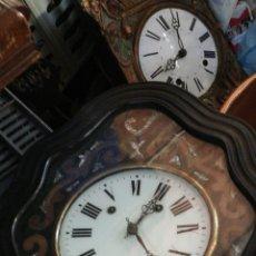Relojes de pared: ESPECTACULAR RELOJ OJO DE BUEY SIGLO XIX INCRUSTACIONES DE NÁCAR. Lote 140085560