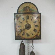Relojes de pared: PEQUEÑO RELOJ RATERA - FUNCIONA - PEQUEÑA CARATULA - TODO ORIGINAL - DE COLECCIÓN!!!. Lote 140374566
