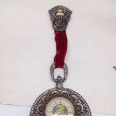 Relojes de pared: RELOJ PARED CARGA MANUAL CADEUX DE BRONCE MADE IN FRANCE ANTIGUO AÑOS 50. Lote 140387757