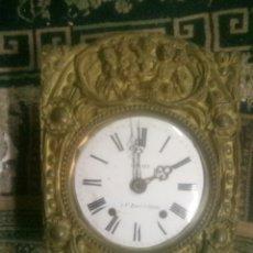 Relojes de pared: ANTIGUO RELOJ MAQUINARIA MOREZ. Lote 140911740
