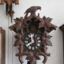 Relojes de pared: RELOJ ANTIGUO DE PARED ALEMÁN CUCU CUCO PÉNDULO FUNCIONA CON PESAS AÑO 1900 1910 SELVA NEGRA ALEMANA. Lote 141432562
