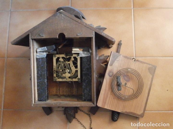 Relojes de pared: Reloj antiguo de pared alemán cucu cuco péndulo funciona con pesas año 1900 1910 selva negra alemana - Foto 9 - 141432562