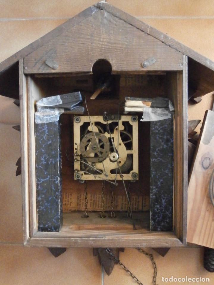 Relojes de pared: Reloj antiguo de pared alemán cucu cuco péndulo funciona con pesas año 1900 1910 selva negra alemana - Foto 10 - 141432562