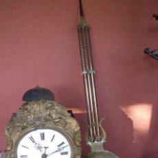 Relojes de pared: ¡¡¡GRAN OFERTA !!!PRECIOSO RELOJ MOREZ CON PENDULO LIRA- AÑO 1870-FUNCIONAL-REPITE HORAS-LOTE 140. Lote 141569978