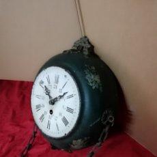 Relojes de pared: ESPECTACULAR RELOJ GLOBO FRANCÉS DE ESTACIÓN MUY RARO SIGLO XIX. Lote 142778122