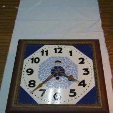 Relojes de pared: RELOJ PARED ART DECO ESFERA DE CERAMICA. Lote 142174910