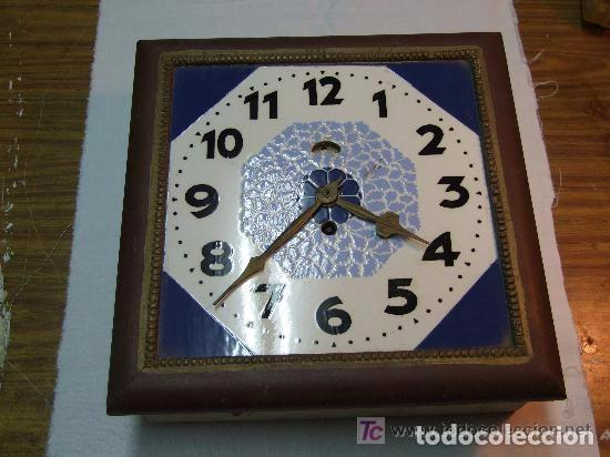 Relojes de pared: RELOJ PARED ART DECO ESFERA DE CERAMICA - Foto 2 - 142174910