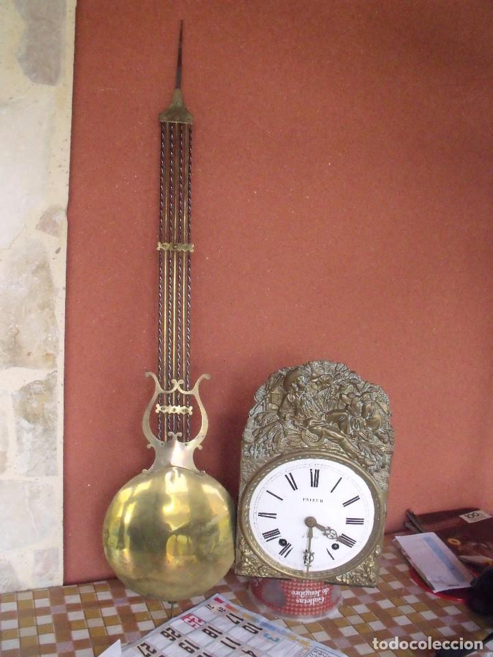 ¡¡GRAN OFERTA!!! ANTIGUO RELOJ MOREZ DE PESAS PENDULO DE LIRA -AÑO 1870- LOTE 141 (Relojes - Pared Carga Manual)
