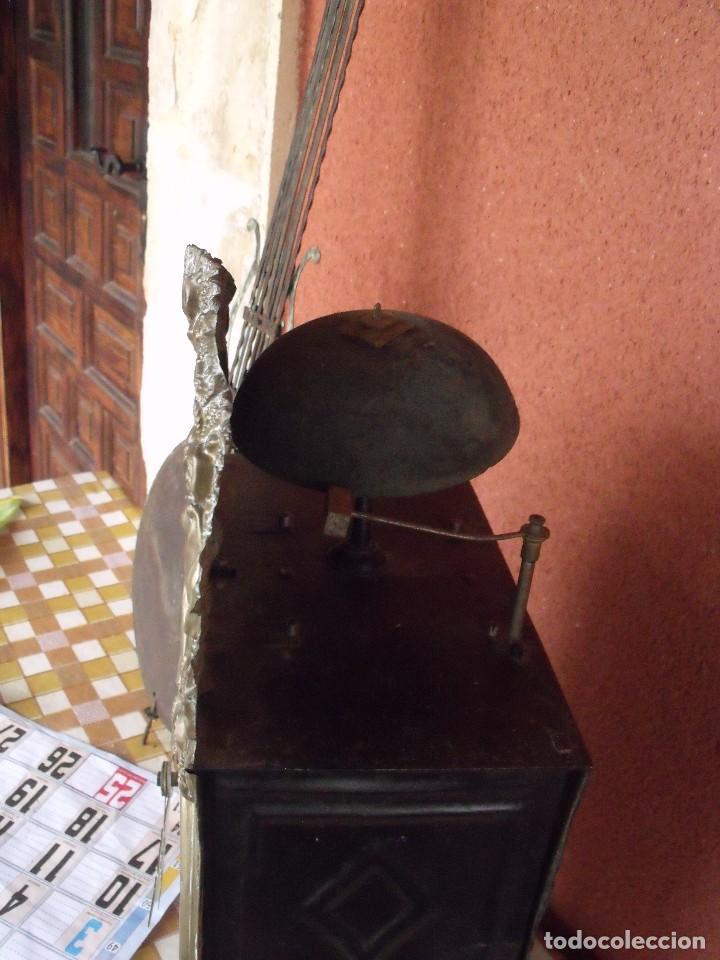 Relojes de pared: ¡¡gran oferta!!! ANTIGUO RELOJ MOREZ DE PESAS PENDULO DE LIRA -AÑO 1870- LOTE 141 - Foto 9 - 192331246