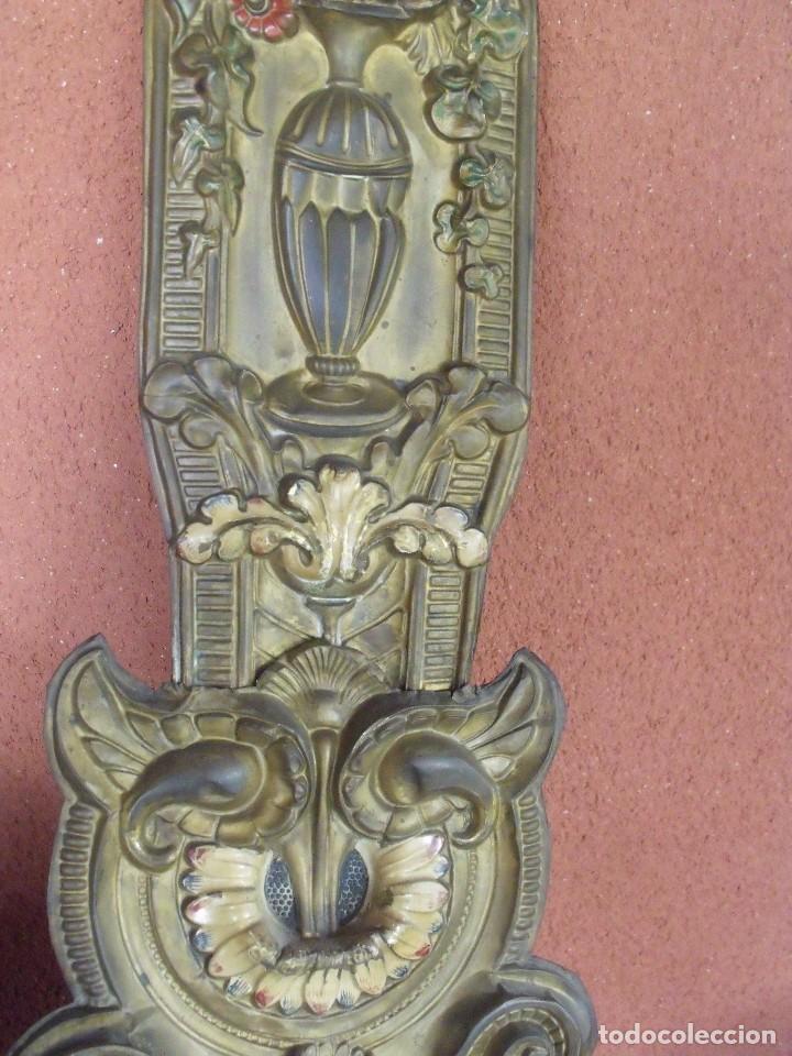 Relojes de pared: ¡¡¡GRAN OFERTA !!!PRECIOSO RELOJ MOREZ PESAS POLICROMADO- AÑO 1890-FUNCIONAL-REPITE HORAS-LOTE 142 - Foto 8 - 142234846