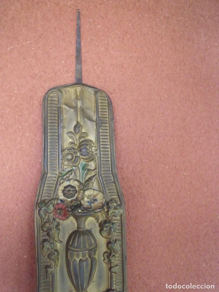 Relojes de pared: ¡¡¡GRAN OFERTA !!!PRECIOSO RELOJ MOREZ PESAS POLICROMADO- AÑO 1890-FUNCIONAL-REPITE HORAS-LOTE 142 - Foto 9 - 142234846