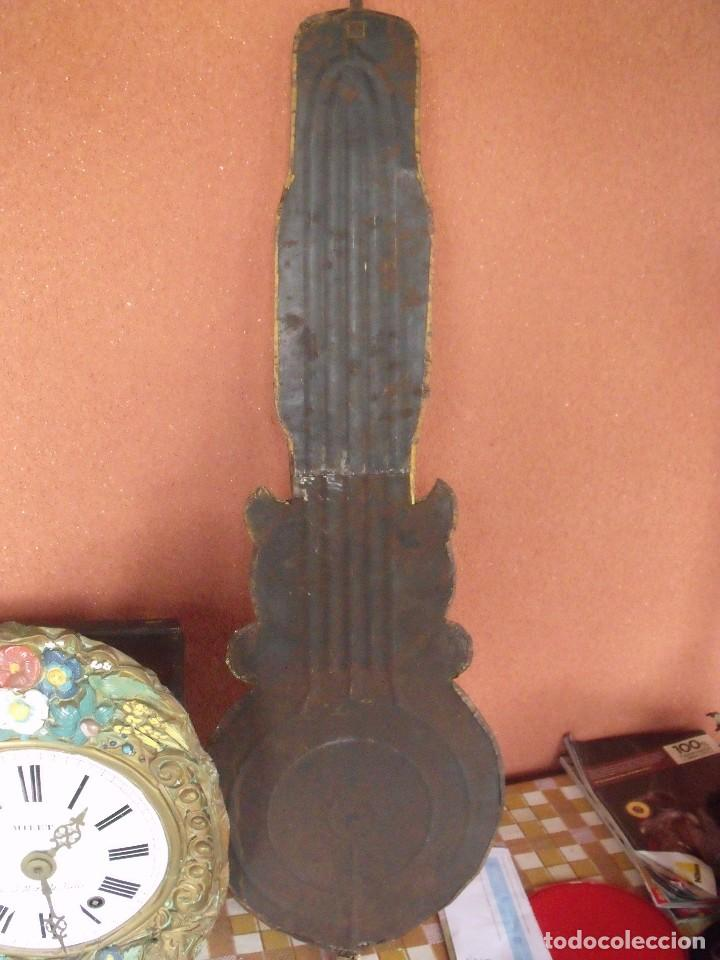 Relojes de pared: ¡¡¡GRAN OFERTA !!!PRECIOSO RELOJ MOREZ PESAS POLICROMADO- AÑO 1890-FUNCIONAL-REPITE HORAS-LOTE 142 - Foto 10 - 142234846