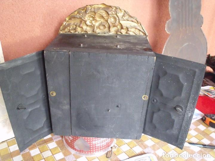 Relojes de pared: ¡¡¡GRAN OFERTA !!!PRECIOSO RELOJ MOREZ PESAS POLICROMADO- AÑO 1890-FUNCIONAL-REPITE HORAS-LOTE 142 - Foto 14 - 142234846