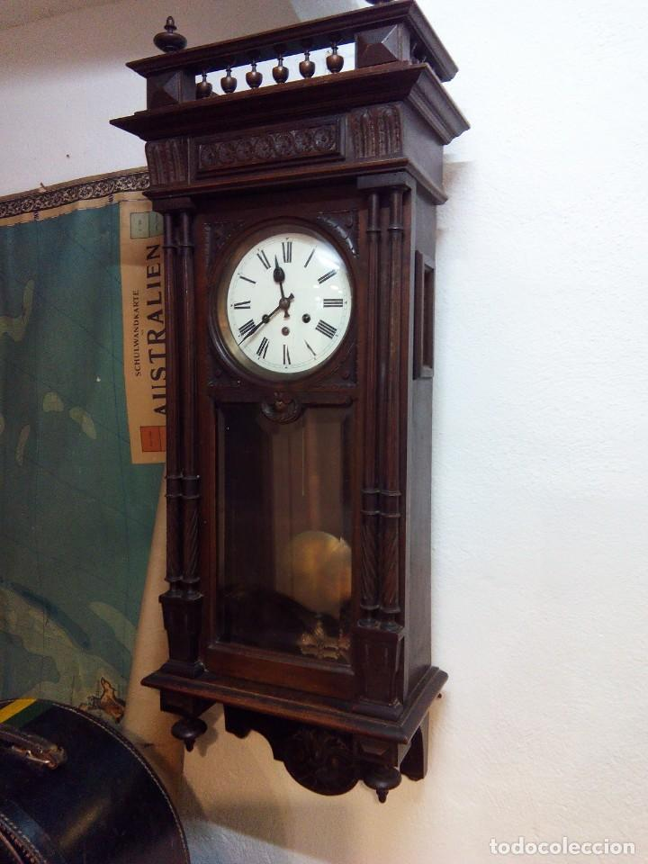 ANTIGUO RELOJ CARRILLÓN PARED. ALFONSINO (Relojes - Pared Carga Manual)