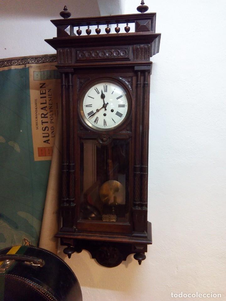 Relojes de pared: ANTIGUO RELOJ CARRILLÓN PARED. ALFONSINO - Foto 2 - 142252246