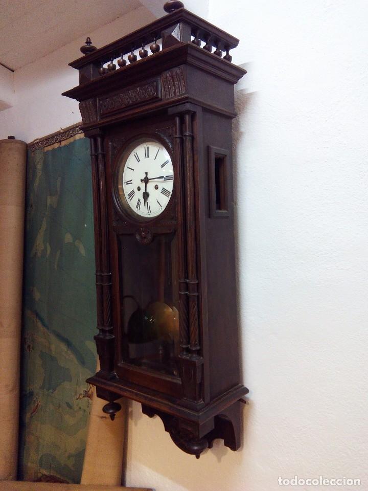 Relojes de pared: ANTIGUO RELOJ CARRILLÓN PARED. ALFONSINO - Foto 3 - 142252246