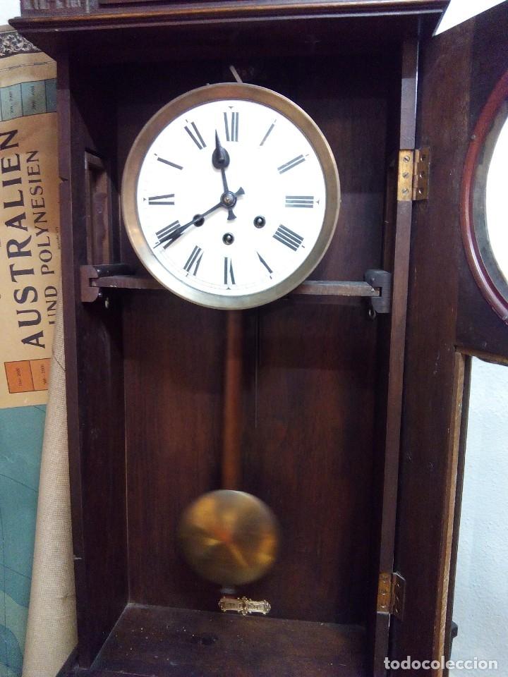 Relojes de pared: ANTIGUO RELOJ CARRILLÓN PARED. ALFONSINO - Foto 6 - 142252246