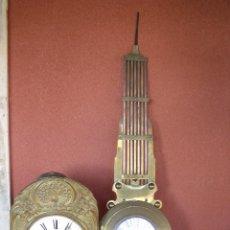 Relojes de pared: ¡¡GRAN OFERTA!!!PRECIOSO RELOJ MOREZ PESAS PENDULO LIRA- FUNCION CALENDARIO-1880-FUNCIONA-LOTE 145. Lote 142321842
