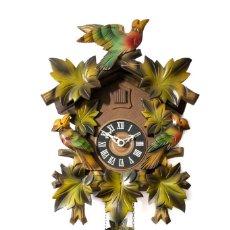 Relojes de pared: ANTIGUO RELOJ ALEMÁN DE CUERDA Y PESAS DE CUCU. Lote 143078382