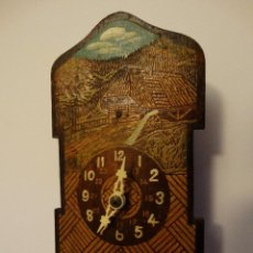 Relojes de pared: ANTIGUO PEQUEÑO RELOJ ALEMAN, SELVA NEGRA, ORIGINAL, FUNCIONANDO, FF.S.XIX.. Lote 143122814