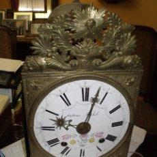 Relojes de pared: ANTIQUISIMA MAQUINARIA MOREZ PESAS- AÑO 1860 BUEN ESTADO-LOTE 146-FUNCIONA. Lote 162958366