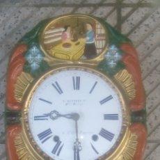Relojes de pared: INCREÍBLE RELOJ MOREZ. Lote 144010141