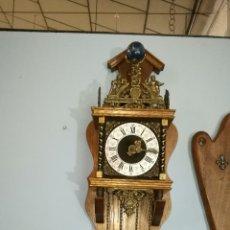 Relojes de pared: RELOJ HOLANDÉS FUNCIONANDO MUY BONITO EN MUY BUEN ESTADO. Lote 144100269