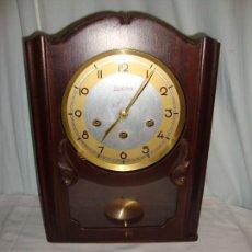 Relojes de pared: RELOJ CARILLÓN - REGULADORA - RELOJ CON 2 MELODÍAS - AVE MARIA DE FÁTIMA Y WESTMINSTER. Lote 121612395