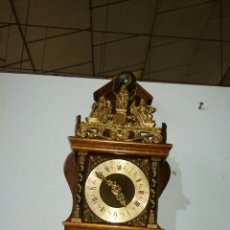 Relojes de pared: RELOJ HOLANDÉS FUNCIONANDO MUY BONITO CON CAJA DE ROBLE. Lote 144120086